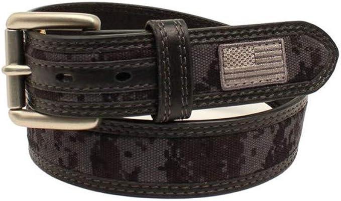 Ariat Men/'s Digital Camo Green USA Flag Belt A1035001