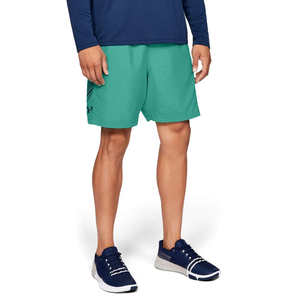 Under Armour Men's Woven Graphic Shorts, Green Malachite (349)/Academy, XXX-Large by Under Armour
