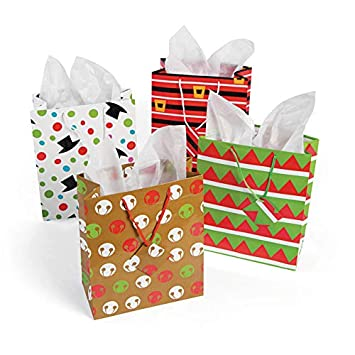 amazon 12 medium cheery christmas gift bags holiday gift wrap