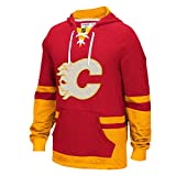 Calgary Flames CCM Retro Pullover Lace Hoodie - Size X-Large