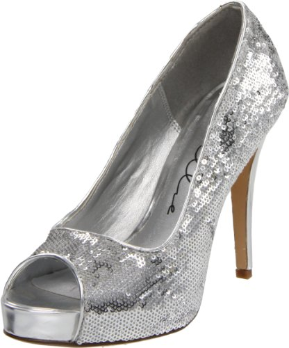 Ellie Shoes Metallic Heels - Ellie Shoes Women's 415-Flamingo Pump,Silver,7 M US