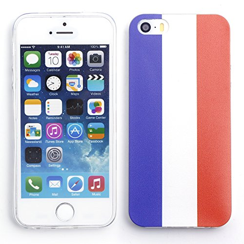 iProtect Apple iPhone 5 5s SE Soft Case Housse en TPU 0,3mm France