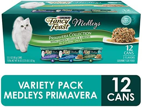 Purina Fancy Feast Gravy Wet Cat Food Variety Pack, Medleys Primavera Collection - (2 Packs of 12) 3 oz. Cans 2
