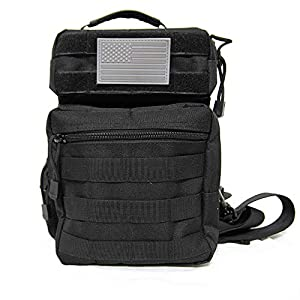 Whiskey Woods Outdoors Tactical Sling Bag Waterproof EDC Rover Backpack with MOLLE
