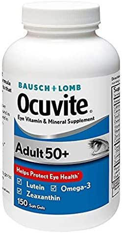 Bausch & Lomb Ocuvite Adult 50+ Eye Vitamin & Mineral 1 Pack (150 Counts)