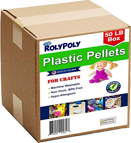 Buy Plastic Pellets Bulk Box for Weighted Blankets (50 LBS) Non-Toxic, Premium Quality Made in the U...