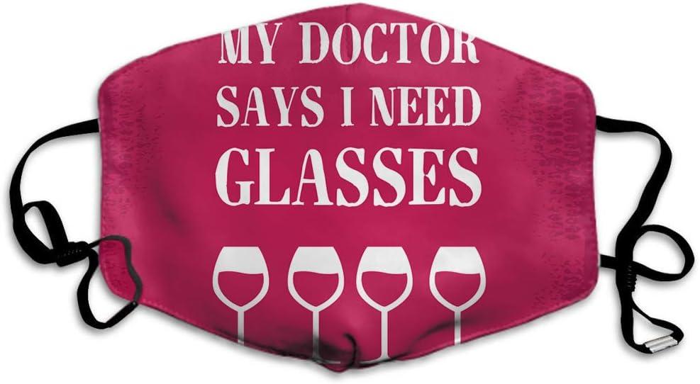"""Maske mit """"I-need-glasses""""-Spruch"""