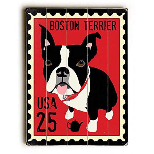 Boston Terrier Postage Stamp by Artist Ginger Oliphant 14
