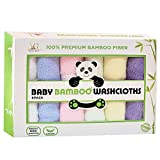 Young Grace 100% Bamboo Baby Washcloths, Premium