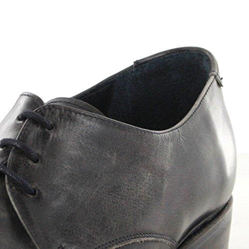 Sendra Boots 7650 Snowbut Negro Lederschuhe für Damen und Herren Schwarz Schnürschuhe Antracita