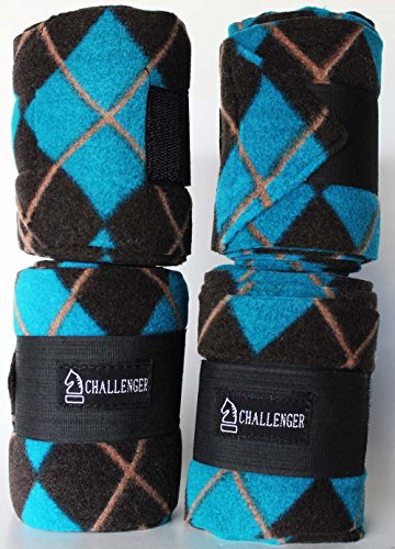 Challenger Horse Grooming Care Set of 4 Fleece Polo Leg Wraps Horse Size 95R18