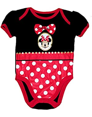 Minnie Mouse Locket Baby Girls Bodysuit