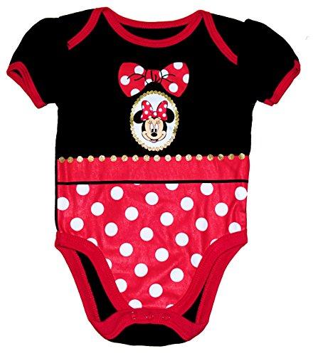 Disney Minnie Mouse Locket Baby Girls Bodysuit (6-9 months) (For Locket Baby Girls)