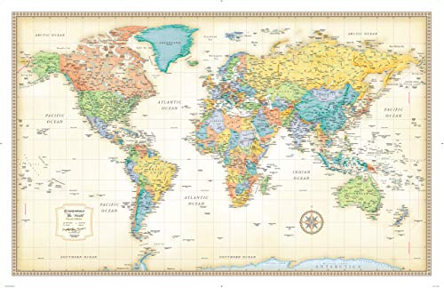 Double Map Sided - Rand McNally Classic World Wall Map