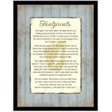 Footprints Wood Frame Plaque with Easel