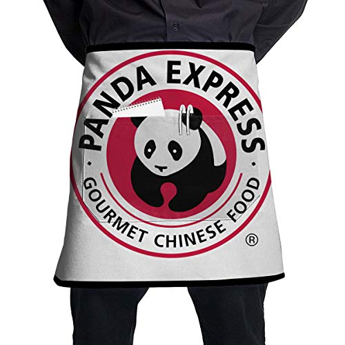 Kjiurhfyheuij Half Short Aprons Panda Express Waist Apron with Pockets Kitchen Restaurant for Women Men Server -