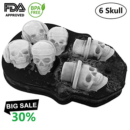 3D Ice Skull Mold-Flexible Food Grade Silicone Ice
