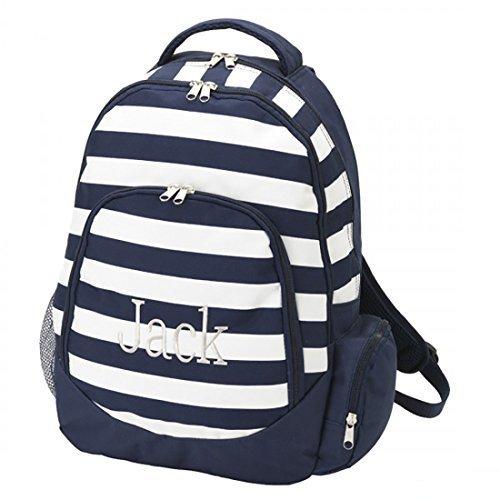 Reinforced Design Water Resistant Backpack (Blank, Navy Stripe) -