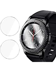 [2 Pack] Screen Protector for Samsung Galaxy Watch 46mm - Tempered Glass/Bubble Free/Scratch Resistant