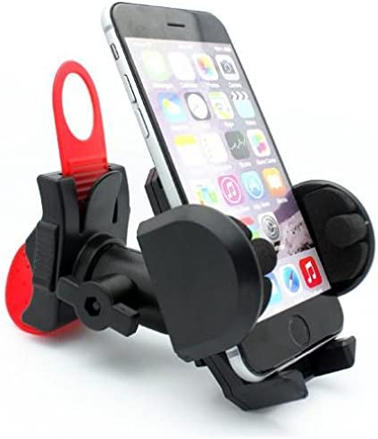 Universal Bike Mount Bicycle Cell Phone Bracket Mobile Phone Holder Compatible with iPhone 6,7,8 Stretchable Bracket to fit Phones 3.5-6.5 Inches SE Editions Samsung Galaxy Note//S10//S9 X