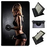 Fancy A Snuggle Attractive Woman Lifting Dumbbells Universal Faux Leather Case Cover/Folio for the Sony Xperia Z3 Compact