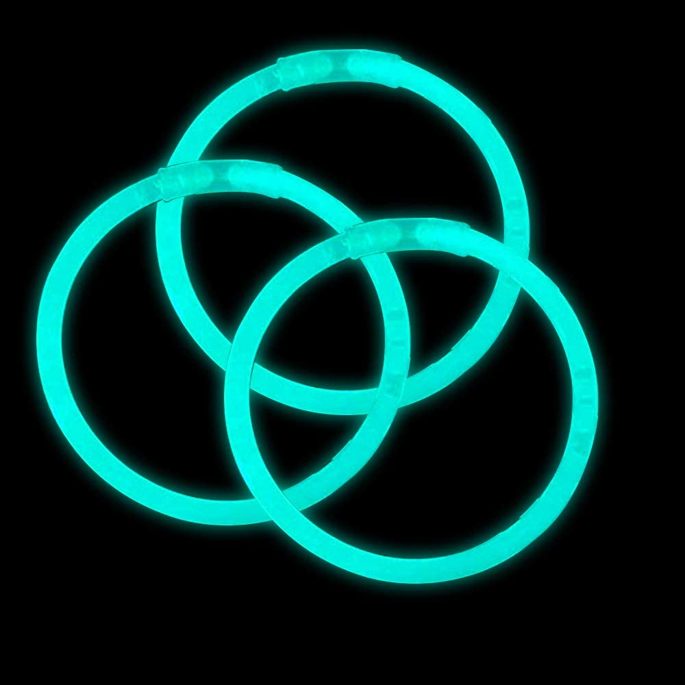 Lumistick Bendable Necklaces with Bracelet Glow Stick 8 Inch Safe /& Non-toxic Light Up Glowsticks Eye-catching Super Bright| Perfect for Festivals Raves Discos /& Partys Aqua - 100