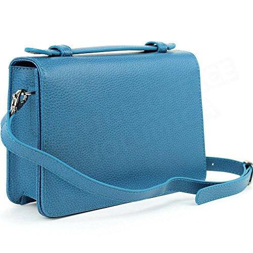 Oslo Beaubourg Volumica Bleu turquoise Cuir Pochette Grande Yv4qFE