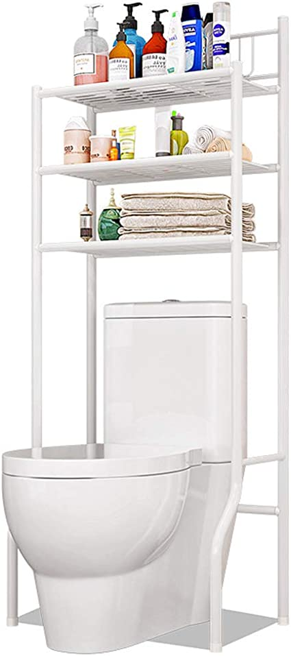 Tzamli ideale per WC e bagno in acciaio cromato di alta qualit/à scaffale per WC con 3 ripiani per riporre e conservare oggetti