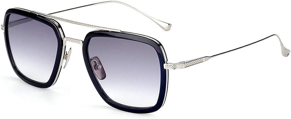 Spider Man Glasses Vintage Square Metal Frame for Men Women Sunglasses Classic Downey Iron Man Tony Stark Shades