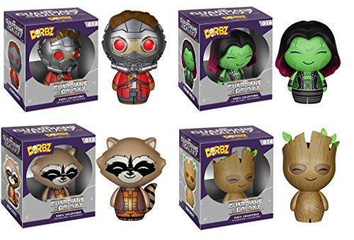 Funko Dorbz Guardians of the Galaxy Groot, Rocket Raccoon, Star Lord, & Gamora