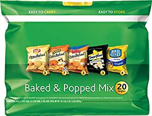 Frito-Lay Baked & Popped Mix Variety Pack, 20 Count