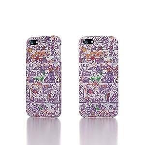Apple iPhone 5 / 5S Case - The Best 3D Full Wrap iPhone Case - Doodle War