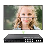 J-Tech Digital ProAV Series Seamless 4x4 HDMI Matrix Switch HDMI Matrix Selector Switcher with Four Picture Multiviewer 2x2 Video Wall Controller