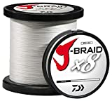 Daiwa J-Braidx8 JB8U80-3000WH 80 lbs Test, White, 3000 Meters/3300 Yards