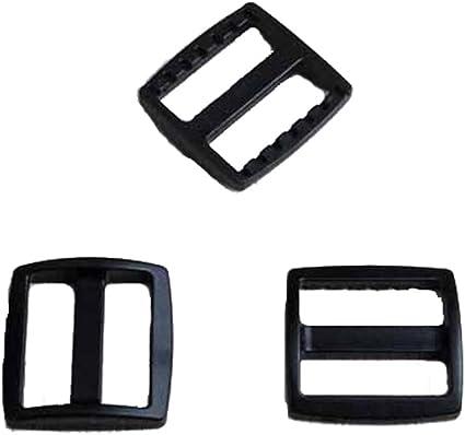 Pack of 10 20mm Plastic Tri-Glide Backpack Strap Adjuster Buckle
