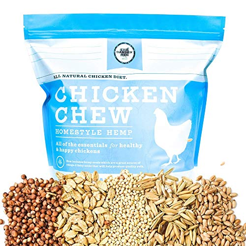 14LBS. CHICKEN CHEW All Natural Whole Grain Layer Feed: Homestyle Hemp with Organic Hemp Seed