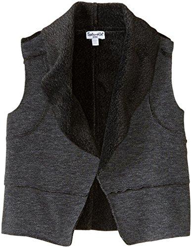 Splendid Baby Girls' Faux Fur Vest, Charcoal Grey Heather, 6-12 by Splendid