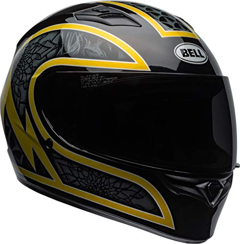 Bell Qualifier Full-Face Motorcycle Helmet (Scorch Gloss Black/Gold Flake, Large) - Cheek Pads Replacement Parts