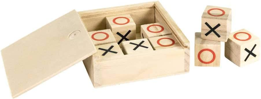Lote 10 Juegos 3 en Raya con Caja en Madera Natural. Regalos para ...