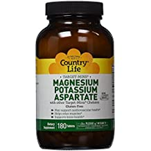 Country Life Target Mins - Magnesium Potassium Aspartate, for Cardiovascular Health - 180 Tablets