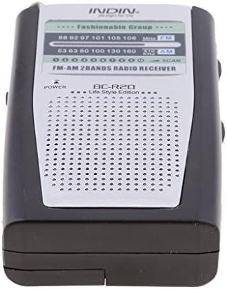 MagiDeal Radio Mini Portátil Am FM Antena Altavoz de Receptor Jack ...