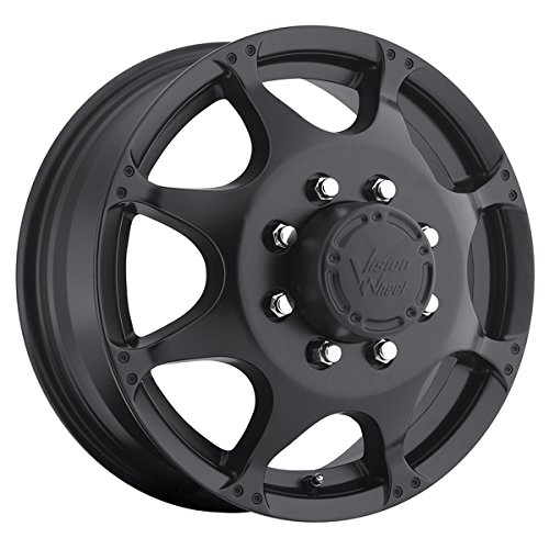 Vision 715 Crazy Eight Matte Black Front Wheel with Painted Finish (17 x 6.5 inches /8 x 210 mm, 121 mm Offset)