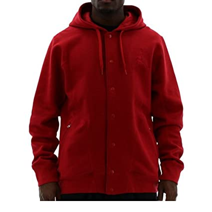 22280efe9 Amazon.com : Nike Jordan Mens Basketball Jumpman Varsity 2.0 Button Jacket  Red : Athletic Hoodies : Sports & Outdoors