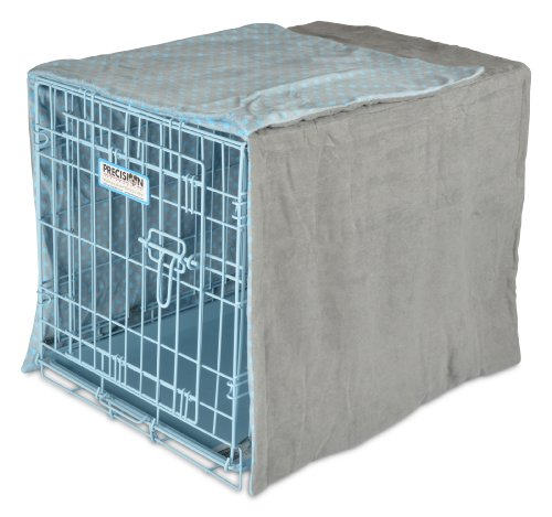 Precision Pet Snoozzy Baby Duvet Crate Cover, 24-Inch, Blue dot
