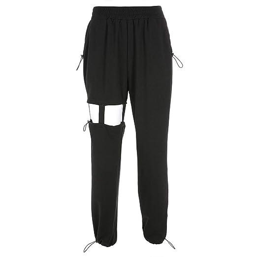 Pantalones casuales de las señoras Mujeres sueltas Pantalones de ...