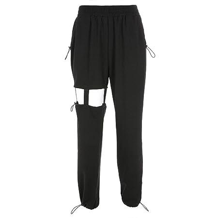 Pantalones deportivos para mujer, Mujeres sueltas Pantalones de ...