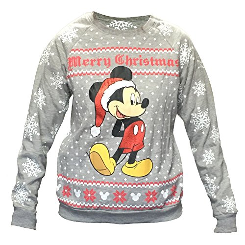 Disney Women's Mickey Mouse Ugly Christmas Sweater