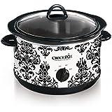 Crock-Pot 4.5-Quart Manual Slow Cooker, Damask Pattern