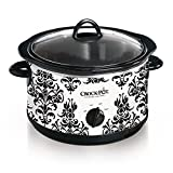 Crock-Pot 4.5-Quart Manual Slow Cooker, Damask Pattern For Sale