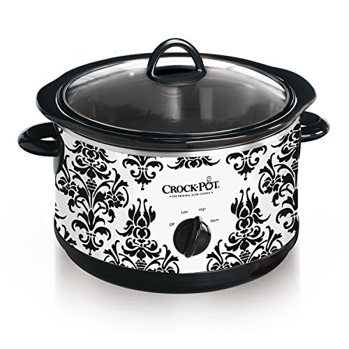 CrockPot 45Quart Manual Slow Cooker Damask Pattern